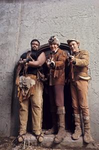 """""""Daniel Boone""""Roosevelt Grier, Fess Parker, Jimmy Dean1969 © 1978 Gene Trindl - Image 1886_0019"""