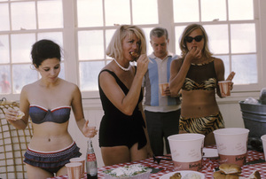 """Peyton Place"" cast partyBarbara Parkins, Dorothy Malone1965 © 1978 Gene Trindl - Image 1889_0015"