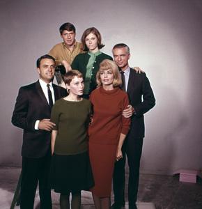 """Peyton Place""Chris Connelly, Pat Morrow, Dorothy Malone, Mia Farrow1965 © 1978 Gene Trindl - Image 1889_0037"