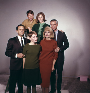 """Peyton Place""Chris Connelly, Pat Morrow, Dorothy Malone, Mia Farrow1965 © 1978 Gene Trindl - Image 1889_0037"