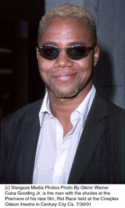Cuba Gooding Jr. is the man with the shades at thePremiere of his new film, Rat Race held at the CineplexOdeon theatre in Century City Ca. 7/30/01. © 2001 Glenn Weiner - Image 18920_0110