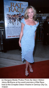 Jenny McShane at the world premiere of Rat Raceheld at the Cineplex Odeon theatre in Century City Ca.7/30/01. © 2001 Glenn Weiner - Image 18920_0114