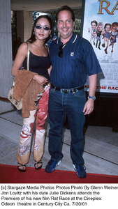 Jon Lovitz with his date Julie Dickens attends thePremiere of his new film Rat Race at the Cineplex Odeon  theatre in Century City Ca. 7/30/01. © 2001 Glenn Weiner - Image 18920_0115