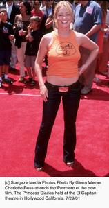 Princess Diaries, The: PremiereCharlotte RossEl Capitan Theater, Hollywood, CA  7/29/01 © 2001 Glenn Weiner - Image 18945_0105