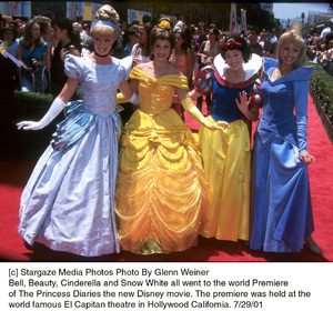 Princess Diaries, The: PremiereBell, Beauty, Snow White and CinderellaEl Capitan Theater, Hollywood, CA  7/29/01 © 2001 Glenn Weiner - Image 18945_0109