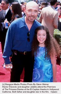 Princess Diaries, The: PremiereHector Elizondo with daughter JulietteEl Capitan Theater, Hollywood, CA  7/29/01 © 2001 Glenn Weiner - Image 18945_0112