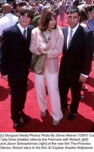Princess Diaries, The: PremiereTalia Shire with sons Robert and Jason SchwartzmanEl Capitan Theater, Hollywood, CA  7/29/01 © 2001 Glenn Weiner - Image 18945_0129