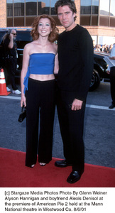 Alyson Hannigan and boyfriend Alexis Denisol atthe premiere of American Pie 2 held at the Mann National theatre in Westwood Ca. 8/6/01 © 2001 Glenn Weiner - Image 19048_0102