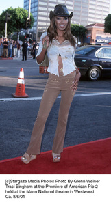 Traci Bingham at the Premiere of American Pie 2held at the Mann National theatre in WestwoodCa. 8/6/01. © 2001 Glenn Weiner - Image 19048_0135