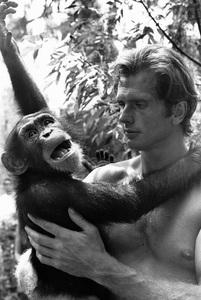"""Tarzan""Ron Ely with his chimp Cheetah1967 © 1978 Gunther - Image 1908_0005"