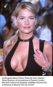 Kristy Swanson at the premiere of Captain Corelli