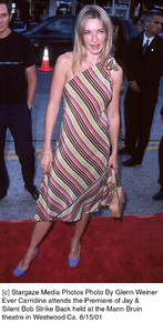 Ever Carridine attends the Premiere of Jay &Silent Bob Strike Back held at the Mann Bruintheatre in Westwood Ca. 8/15/01. © 2001 Glenn Weiner - Image 19200_0105