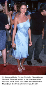 Shannon Elizabeth arrives at the premiere of hernew film, Jay & Silent Bob Strike Back held at theMann Bruin theatre in Westwood Ca. 8/15/01. © 2001 Glenn Weiner - Image 19200_0119