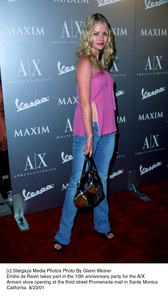 Emilie de Ravin takes part in the 10th Anniversary party for the A/X Armani store opening at the third street Promenade mall in Santa Monica California. 8/23/01. © 2001 Glenn Weiner - Image 19279_0103