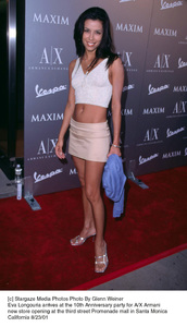 Eva Longouria arrives at the 10th Anniversary party for A/X Armani new store opening at the third street Promenade mall in Santa MonicaCalifornia 8/23/01. © 2001 Glenn Weiner - Image 19279_0104