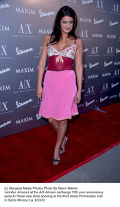 Jennifer Jimenez at the A/X Armani Exchange 10th year Anniversary party for there new store opening at the third street Promenade mall in Santa Monica Ca. 8/23/01. © 2001 Glenn Weiner - Image 19279_0109