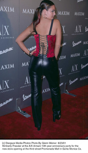 Kimberly Pressler at the A/X Armani 10th year Anniversary party for the new store opening at the third street Promenade Mall in Santa Monica Ca. 8/23/01. © 2001 Glenn Weiner - Image 19279_0115
