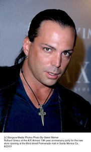 Richard Grieco at the A/X Armani 10th year anniversary party for the new store opening at the third street Promenade mall in Santa Monica Ca.8/23/01. © 2001 Glenn Weiner - Image 19279_0126