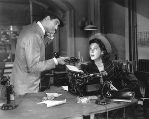 """""""His Girl Friday""""Cary Grant & Rosalind Russell1940 Columbia** I.V. - Image 19305_0010"""