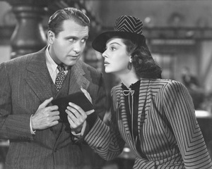"""""""His Girl Friday""""Ralph Bellamy & Rosalind Russell1940 Columbia**I.V. - Image 19305_0011"""