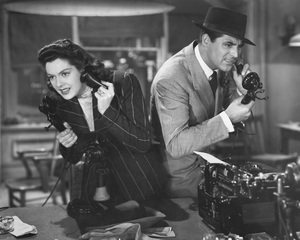 """""""His Girl Friday""""Cary Grant & Rosalind Russell1940 Columbia**I.V. - Image 19305_0012"""