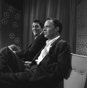"Dean Martin and Frank Sinatra rehearsing for ""The Dean Martin Show""1965 © 1978 Gerald Smith - Image 1943_0004"