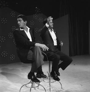 "Dean Martin and Frank Sinatra rehearsing for ""The Dean Martin Show""1965 © 1978 Gerald Smith - Image 1943_0005"