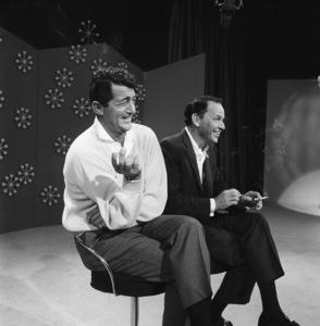 "Dean Martin and Frank Sinatra rehearsing for ""The Dean Martin Show""1965 © 1978 Gerald Smith - Image 1943_0006a"