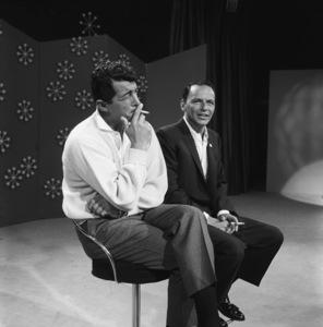 "Dean Martin and Frank Sinatra rehearsing for ""The Dean Martin Show""1965 © 1978 Gerald Smith - Image 1943_0007"