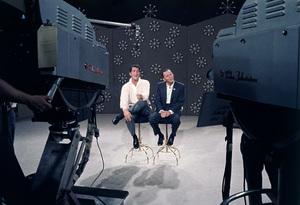 "Dean Martin and Frank Sinatra rehearsing for ""The Dean Martin Show"" 1965 © 1978 Gerald Smith - Image 1943_0014"
