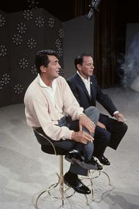 "Dean Martin and Frank Sinatra rehearsing for ""The Dean Martin Show""1965 © 1978 Gerald Smith - Image 1943_0016"