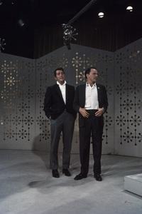"Dean Martin and Frank Sinatra rehearsing for ""The Dean Martin Show""1965 © 1978 Gerald Smith - Image 1943_0017"