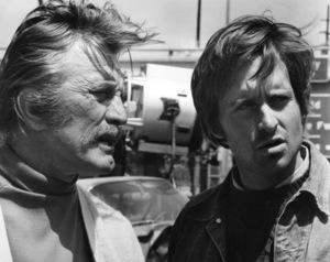 """Summertree""Kirk and Michael Douglas inbetween scenes1971 Columbia**I.V. - Image 19555_0003"