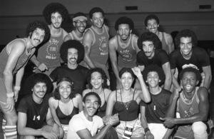 The Sylvers at celebrity basketball game 1978 © 1978 Bobby Holland - Image 19575_0012