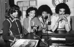 """The Sylvers, Walt """"Baby"""" Love and Carole Carper in Los Angeles 1978 © 1978 Bobby Holland - Image 19575_0022"""