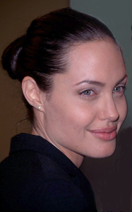 Angelina Jolie attends the premiere of her husband Billy Bob Thornton new film, Bandits. The premiere was held at the Mann Village theater in Westwood California. 10/4/01. © 2001 Glenn Weiner - Image 19588_0102