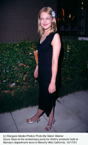Azura Skye at the anniversary party for Kiehl
