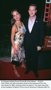 Cary Elwes and wife Lisa Marie arrive at the premiere of his new mini-series for NBC, Uprising which he stars in. The event was held at the Academy of Motion Picture Arts & Sciences in Beverly Hills Ca. 10/22/01. © 2001 Scott Weiner - Image 19648_0100