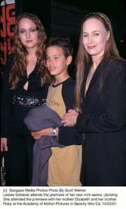 Leelee Sobieski attends the premiere of her new mini-series, Uprising. She attended the premiere with her mother Elizabeth and her brother Roby at the Academy of Motion Pictures in Beverly Hills Ca. 10/22/01. © 2001 Scott Weiner - Image 19648_0107