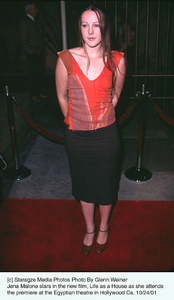 Jena Malone stars in the new film, Life as a House as she attends the premiere at the Egyptian theatre in Hollywood Ca. 10/24/01. © 2001 Glenn Weiner - Image 19650_0106