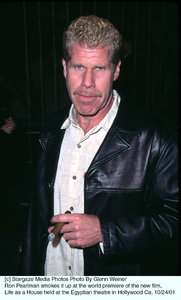 Ron Pearlman smokes it up at the world premiere of the new film, Life as a House held at the Egyptian theatre in Hollywood Ca. 10/24/01. © 2001 Glenn Weiner - Image 19650_0114
