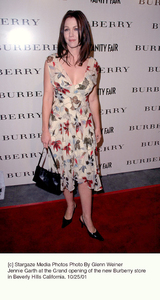 Jennie Garth at the Grand opening of the new Burberry store in Beverly Hills California. 10/25/01. © 2001 Glenn Weiner - Image 19653_0101