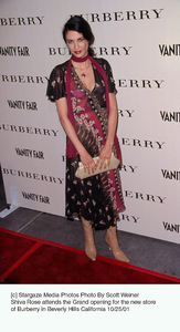 Shiva Rose attends the Grand opening for the new store of Burberry in Beverly Hills California.10/25/01. © 2001 Scott Weiner - Image 19653_0115
