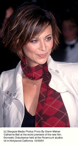 Catherine Bell at the world premiere of the new film,Domestic Disturbance held at the Paramount studioslot in Hollywood California. 10/30/01. © 2001 Glenn Weiner - Image 19661_0102