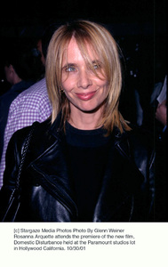 Rosanna Arquette attends the premiere of the new film, Domestic Disturbance held at the Paramount studios lot in Hollywood California. 10/30/01. © 2001 Glenn Weiner - Image 19661_0121