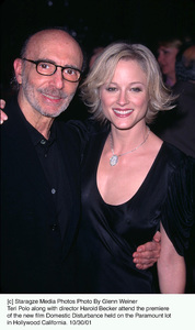 Teri Polo along with director Harold Becker attend the premiere of the new film Domestic Disturbance held on the Paramount lot in Hollywood California. 10/30/01. © 2001 Glenn Weiner - Image 19661_0125