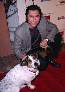 Lou Diamond Phillips along with Edith the dog helped raise some money for the Best Friends Animal Sanctuary as they held a Lint Roller Party at the Century Club in Century City Ca. 11/15/01. © 2001 Scott Weiner - Image 19689_0104