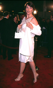Lucy Lawless arrives at the premiere of Spy Game.The event was held at the Mann National theatrein Westwood California. 11/19/01. © 2001 Glenn Weiner - Image 19691_0122