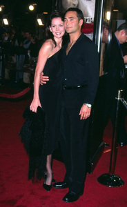 Mark Dacascos french actor along with his wife Julie Condra attend the premiere of the new film, Spy Game. The premiere was held at the Mann National theatre in Westwood Ca. 11/19/01. © 2001 Glenn Weiner - Image 19691_0123