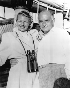 """Lady From Shanghai, The""Rita Hayworth with  Harry Cohn on the set  1948 Columbia / **I.V. - Image 19700_0020"